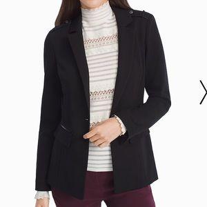 WHBM, long pointe blazer jacket size 8